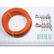 30m2 max. 2 zone/stat. 3 loops... >  3 Port x 200M Underfloor Heating Kit