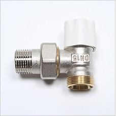 Angle Lockshield Regulating Valve. For connecxting Pex-Al-Pex pipe to radiators