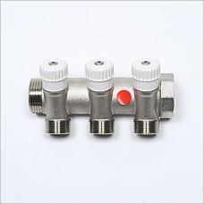 """3V Port G 1"""" X  (M24X19) manifold with valve."""
