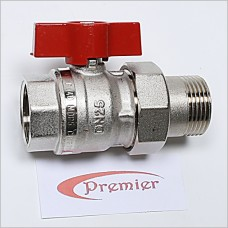 "1"" Red Ball Valve"